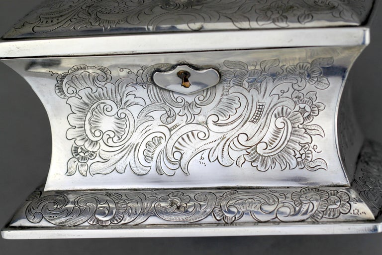 Antique Austrian Silver Sugar Box, Austria, 1844 For Sale 6