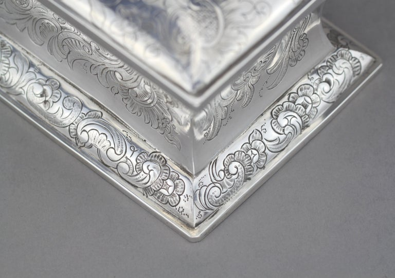 Antique Austrian Silver Sugar Box, Austria, 1844 For Sale 7