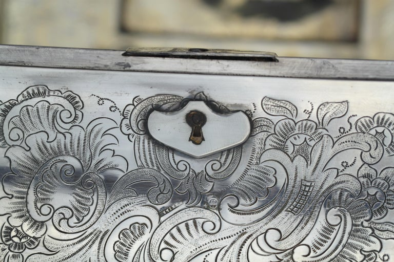 Antique Austrian Silver Sugar Box, Austria, 1844 For Sale 11