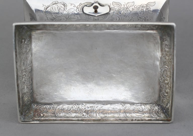 Antique Austrian Silver Sugar Box, Austria, 1844 For Sale 13