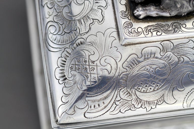 Antique Austrian Silver Sugar Box, Austria, 1844 For Sale 3