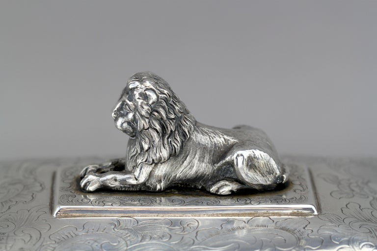 Antique Austrian Silver Sugar Box, Austria, 1844 For Sale 4