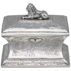 Antique Austrian Silver Sugar Box, Austria, 1844