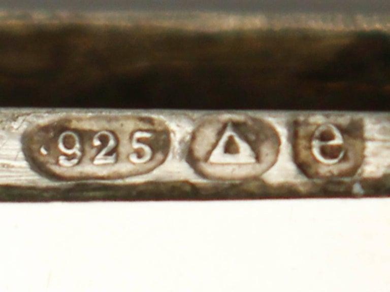 Antique Austrian Sterling Silver and Enamel Vesta Case For Sale 2