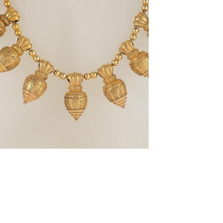 Women's Antique Austro-Hungarian Etruscan Revival Necklace For Sale