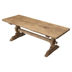 Antique Authentic French Farm House Dining Table with Unbelievable Wood Graining