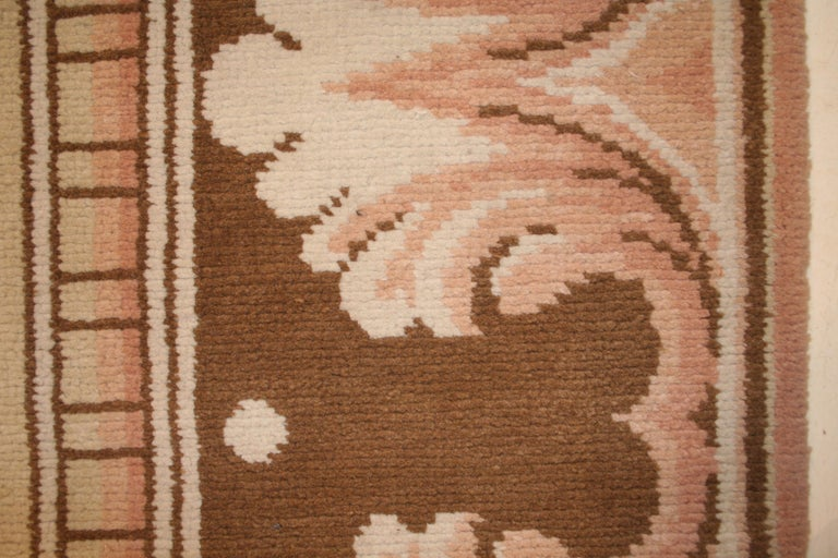 Antique Axminster Rug With Arts And Crafts Pattern In