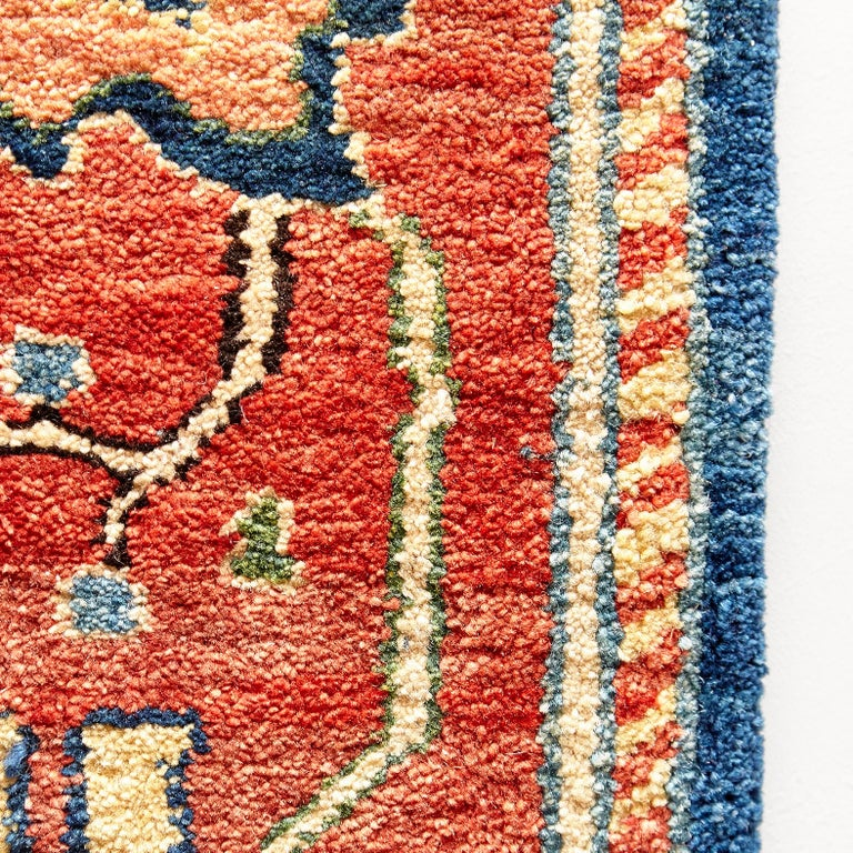 Antique Azeri Arts & Crafts Turkey Hand Knotted Large Rug, 1980 For Sale 4