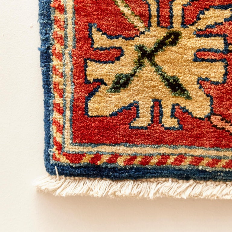 Antique Azeri Arts & Crafts Turkey Hand Knotted Large Rug, 1980 For Sale 5