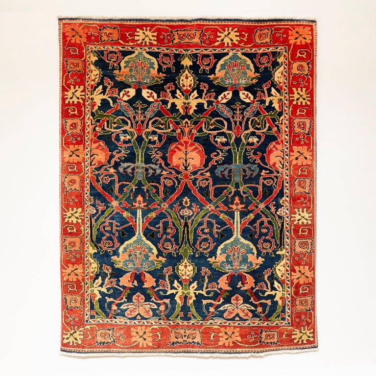 Rug Made in Turkey, circa 1980.   Hand knotted Azeri 218 x 280.