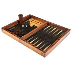 Antique Backgammon and Checkers Games Box