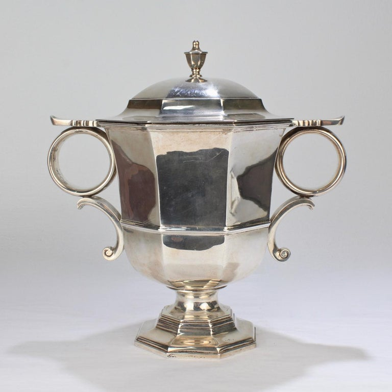 Women's or Men's Antique Bailey Banks & Biddle George II Style Sterling Silver Loving Cup For Sale