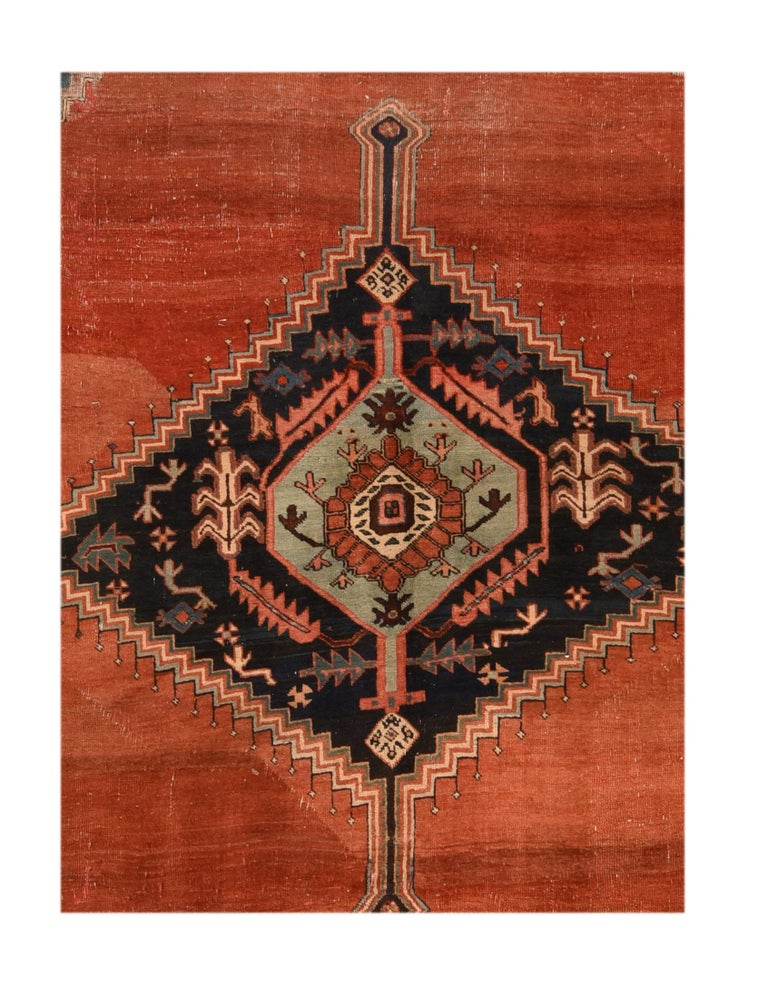 Hand-Knotted Antique Bakhshaish Persian Rug, circa 1890 For Sale