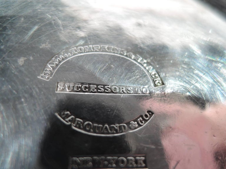 Antique Ball Tompkins And Black Coin Silver Pastoral Baby