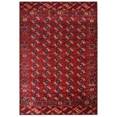 Antique Russian Tekke Turkmen Carpet