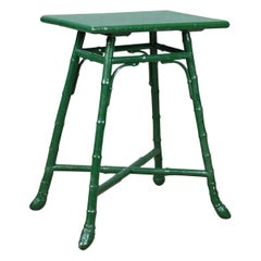Antique Bamboo Table, Side Occasional, Oriental, Painted, Victorian, circa 1880