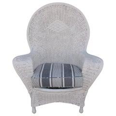 Antique Bar Harbor Wicker Fan Back Chair