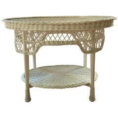 Antique Bar Harbor Wicker Table