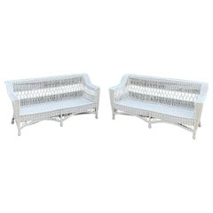 Antique Bar Harbor Willow Sofas