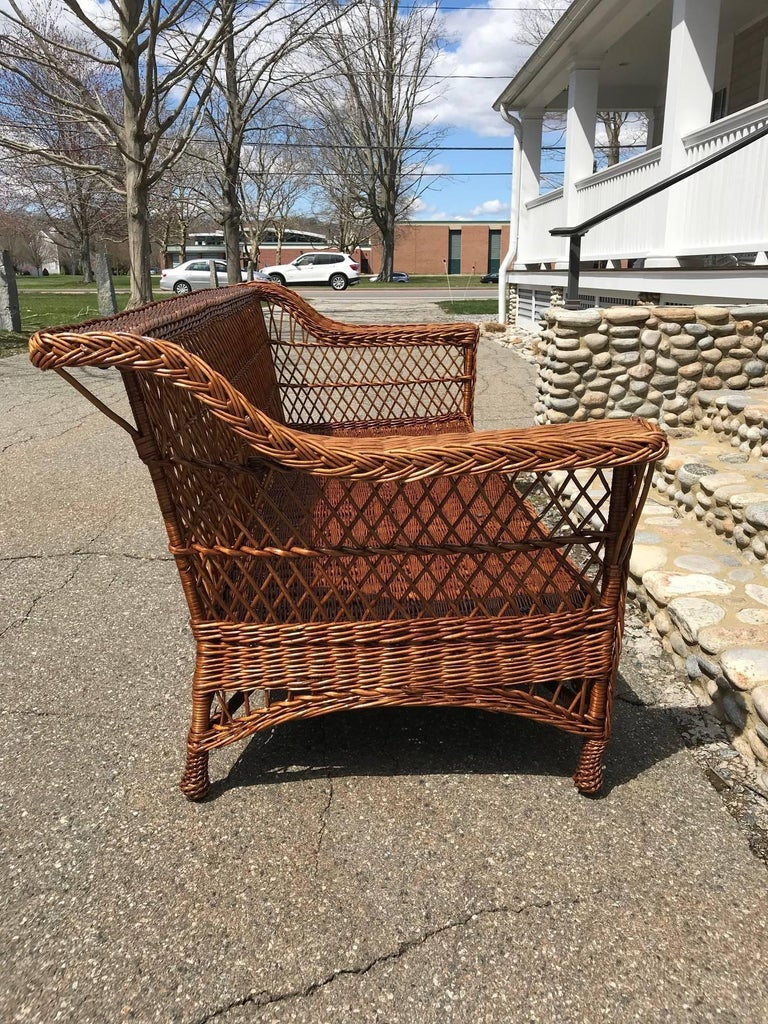 Antique Bar Harbor Willow Wicker Set For Sale At 1stdibs