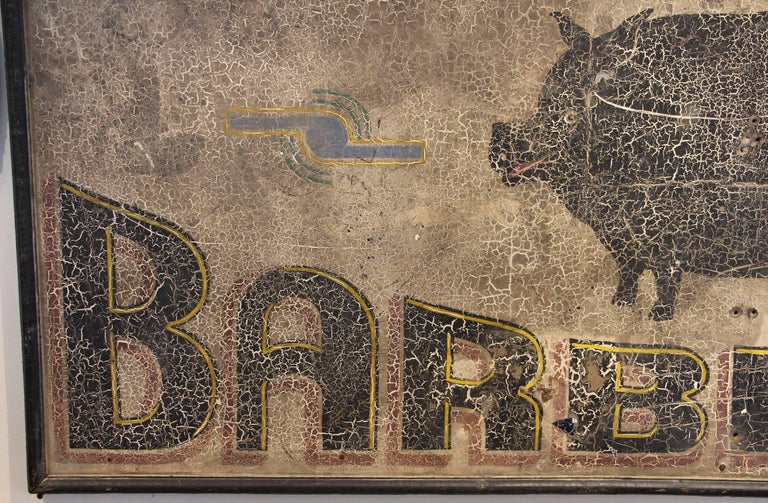 Antique Barbecue Sign For Sale 2