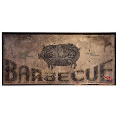 Antique Barbecue Sign