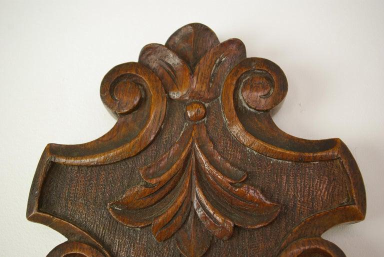 Hand-Crafted Antique Barometer, Aneroid Barometer, Carved Oak Barometer, Scotland 1890,B1282A For Sale
