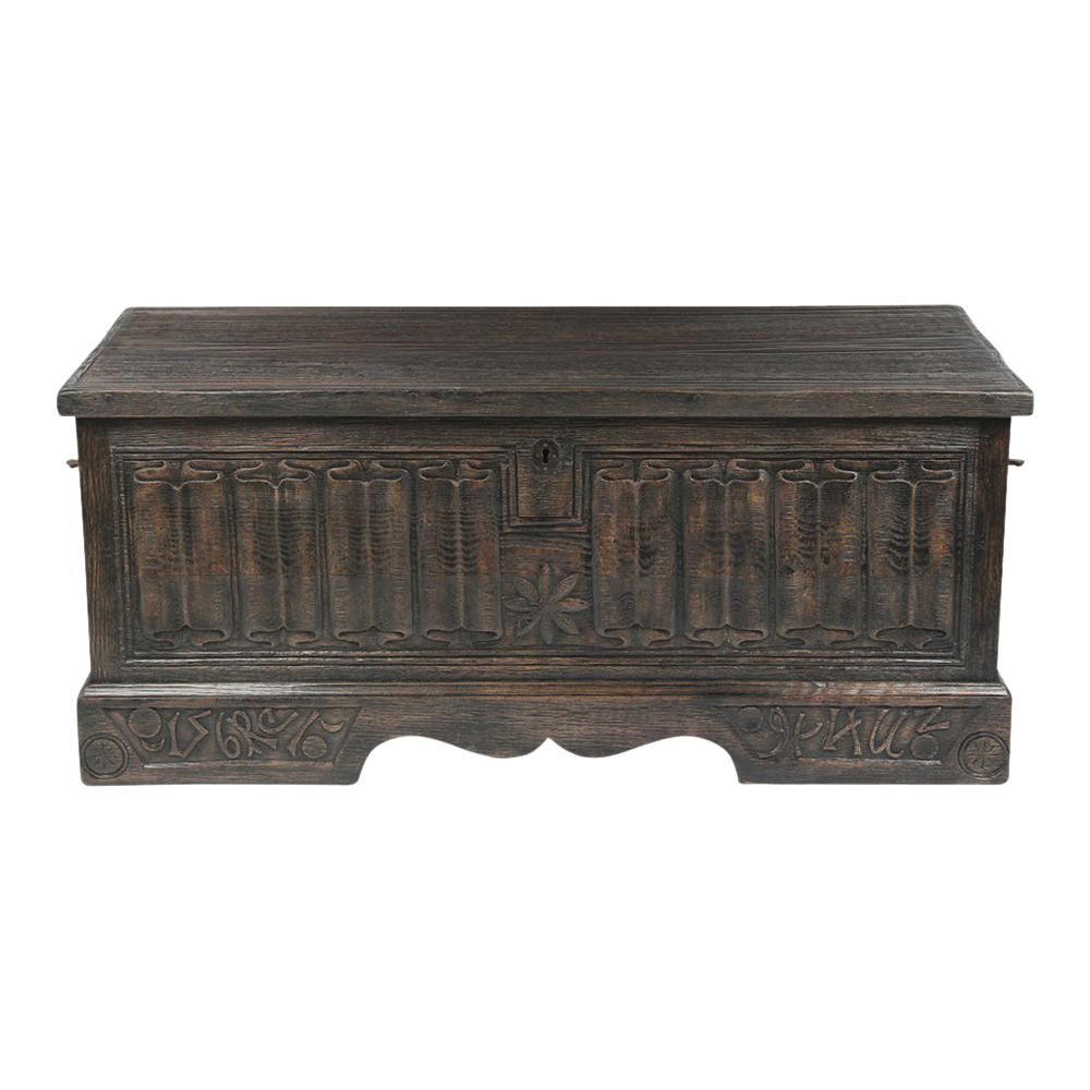 Antique Baroque Carved Trunk