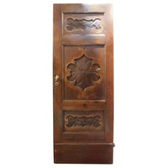 Antique Baroque Door Carved and Inlaid, Carved in Walnut, '700, Italy