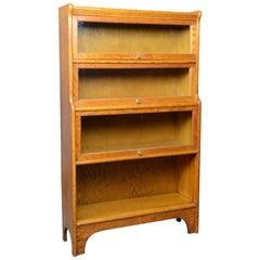 Antique Barrister's Bookcase, Four-Section, Glazed, Globe Wernicke Taste