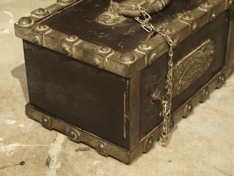 Late 19th Century Antique Bauche Cast Iron Safe from Northeastern France, circa 1870 For Sale