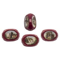 Antique Bead Micro Mosaic Rome Campagna Italy