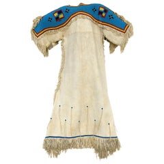 Antique Beaded Hide Dress, Sioux 'Plains Indian', circa 1880, Native American