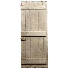 Antique Beaded Plank Elm Door, 20th Century