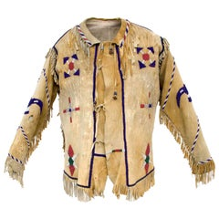 Antique Beaded Shirt, Apache, Native American, circa 1890-1910, Southwestern US