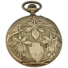 Antique Beautifully Engraved Case Pocket Watch