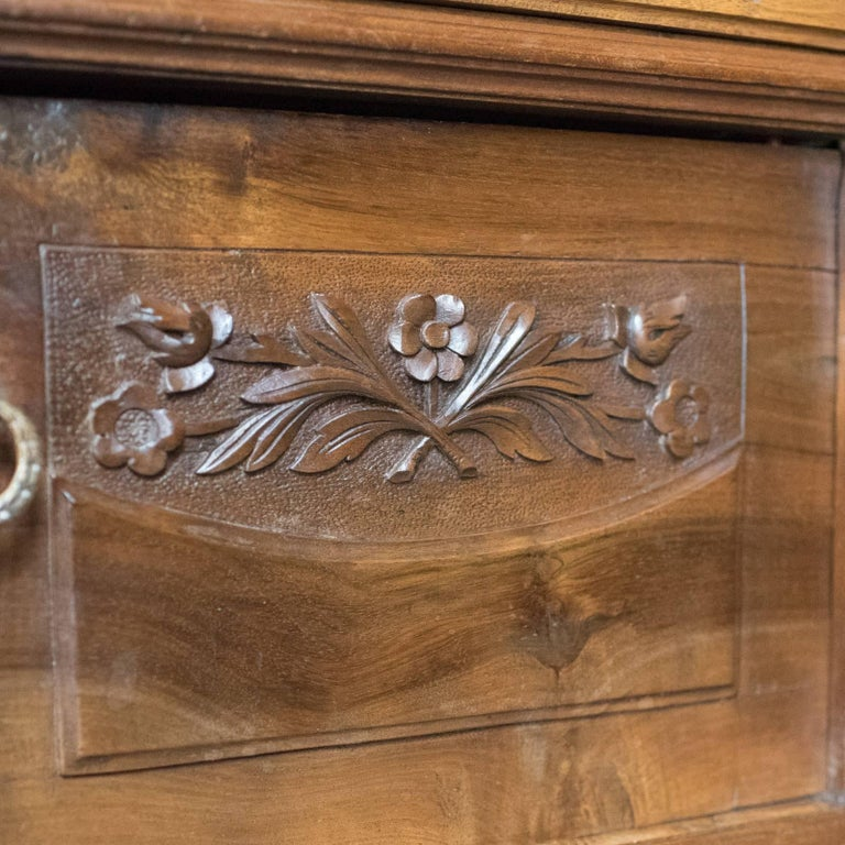 Antique Bedside Cabinet, Victorian Marble-Top Pot Cupboard, Walnut, circa 1900 For Sale 3