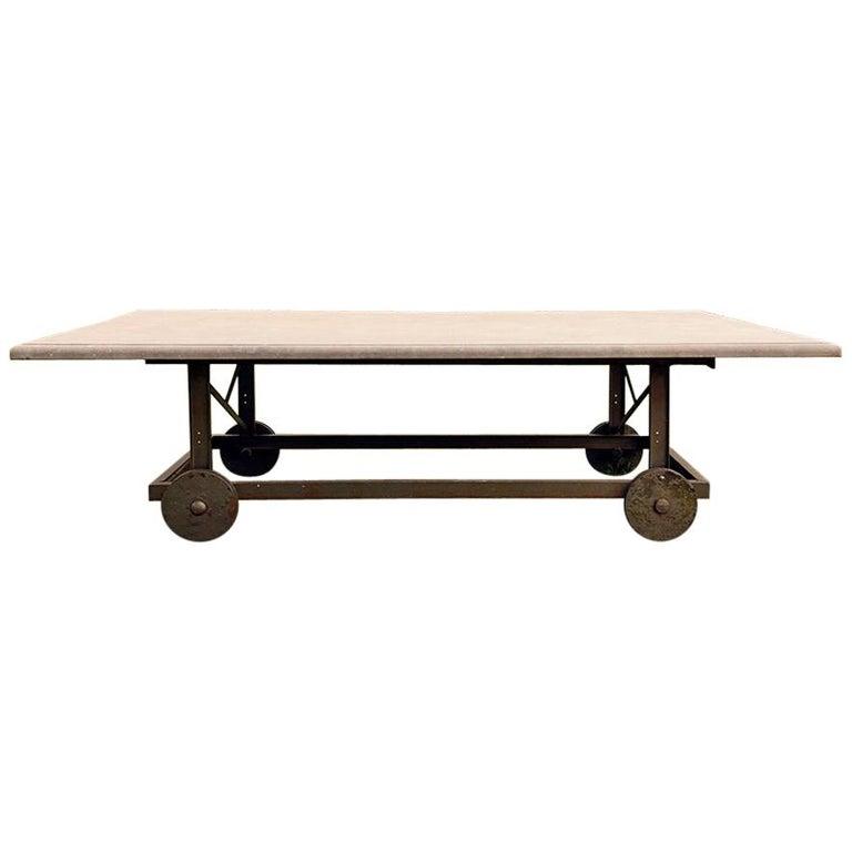 Antique Belgian Bluestone Garden Table 19th Century For Sale