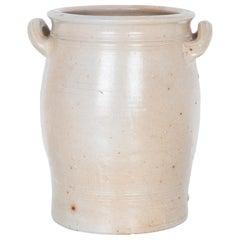 Antique Belgian Farmhouse White Ceramic Pot
