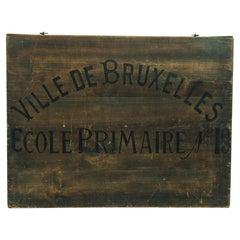 Antique Belgian School Box