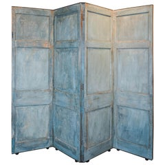 Antique Belgian Screen on Casters