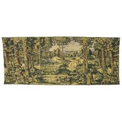 Antique Belgian Verdure Jagaloon Series Tapestry, Royal Hunting Woods