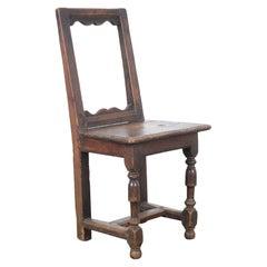 Antique Belgian Wooden Chair