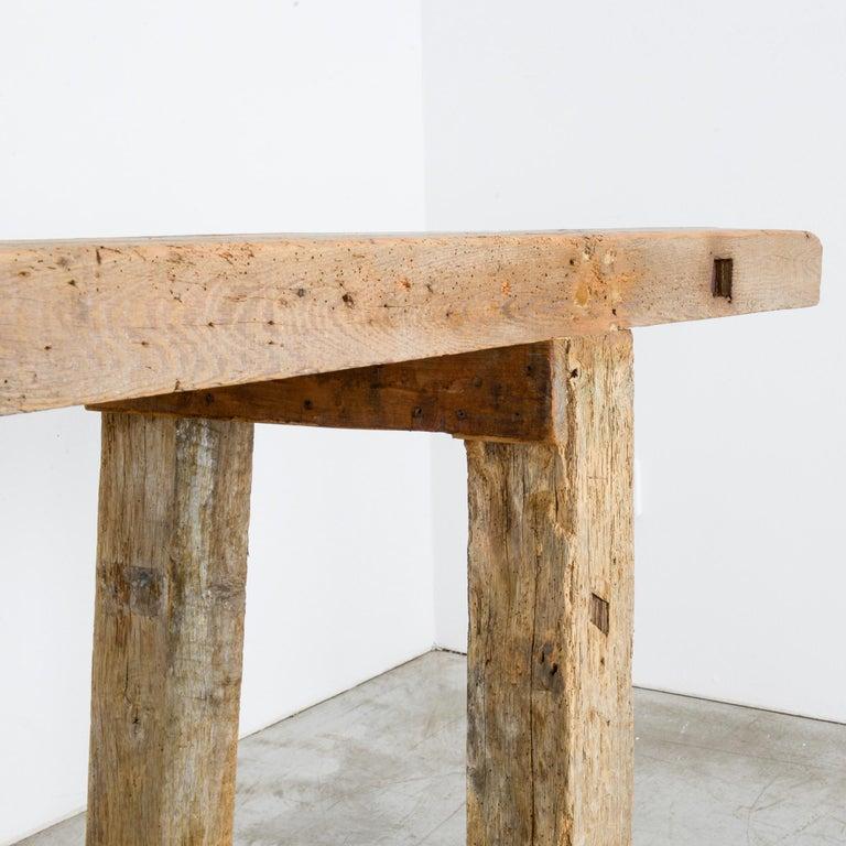 Antique Belgian Wooden Work Bench For Sale 1