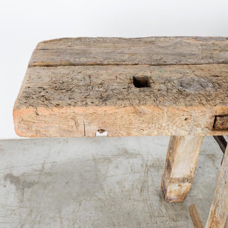 Antique Belgian Wooden Work Bench For Sale 3