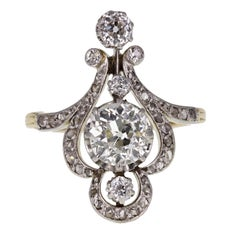 Antique Belle Époque Diamond Cluster Ring
