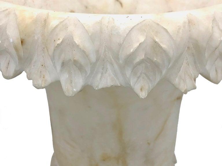 Antique Belle Époque French Alabaster Vase Garden Ornament For Sale 3