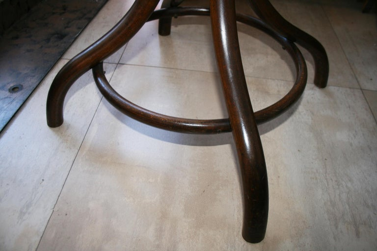 Antique Bentwood Bistro or Side Table Thonet Style by Fischel For Sale 9