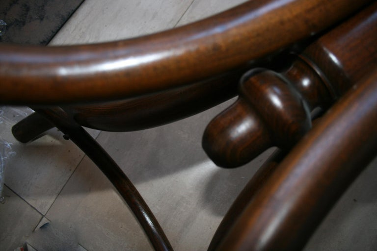Antique Bentwood Bistro or Side Table Thonet Style by Fischel For Sale 11