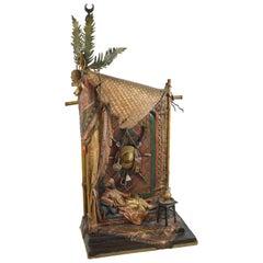 Antique Bergman Austrian Bronze Orientalist Carpet Seller Lamp